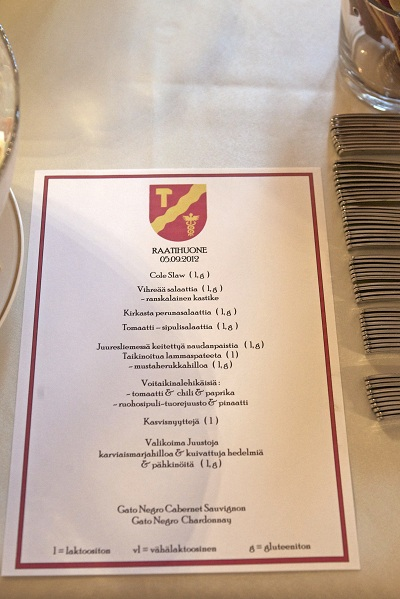 Raatihuone menu. Kuva: Kalle Parkkinen